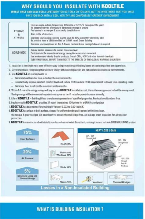 kool tile insulation tiles   roofs walls