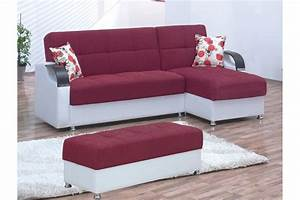 Convertible sectionals angel burgundy convertible for Sectional sofa that converts to bed