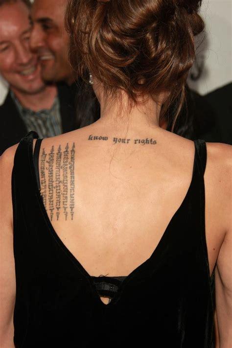 Tatouage Angelina Jolie, Signification Tatouages Angelina