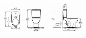 Cuvette Sortie Horizontale : cuvette wc od on up l 36 5 basse consommation sortie ~ Premium-room.com Idées de Décoration
