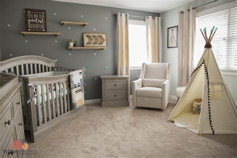 Beautiful Gender-neutral Tribal Aztec Nursery