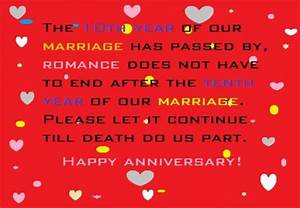 happy 10th year wedding anniversary wishes and quotes With 10th year wedding anniversary message for my husband
