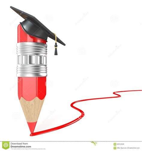 red pencil   graduation cap drawing red