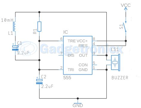 Metal Detector Circuit Using Buzzer Gadgetronicx