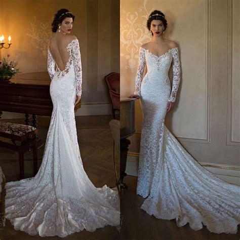 backless wedding dress lace 2016 berta lace backless wedding dresses mermaid