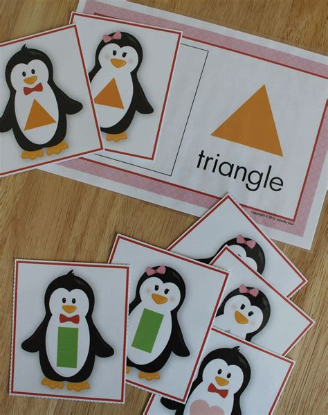 penguins shape sort penguin activities winter 248 | 1e2b56b74285ca022e036affbd94820a