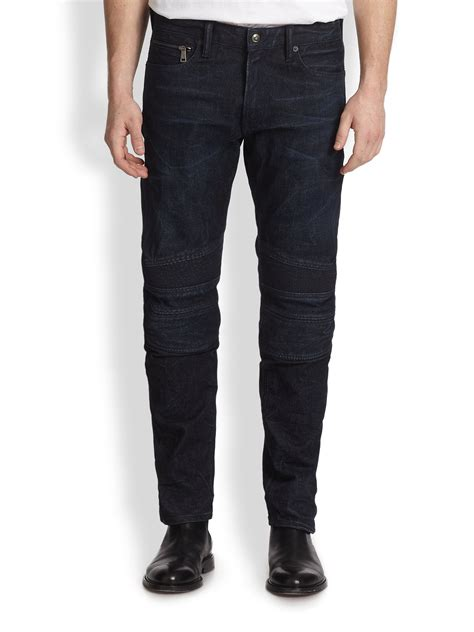 lyst ralph lauren black label piston moto stretch jeans