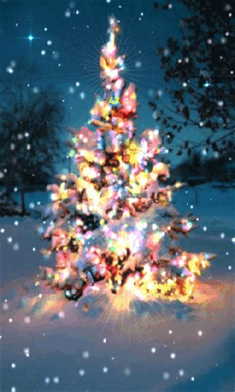 colorful animated christmas tree pictures
