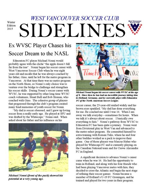 Winter sidelines 2015 by WVSC Issuu
