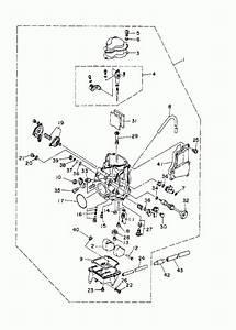 1996 Yamaha Kodiak 400 4wd Yfm400fwh Carburetor Parts