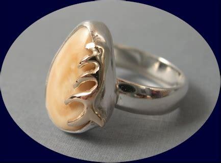 Ladies Elk Ivory Ring
