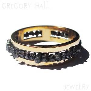 black wedding band with diamonds black engagement ring 14k gold womens jewelry