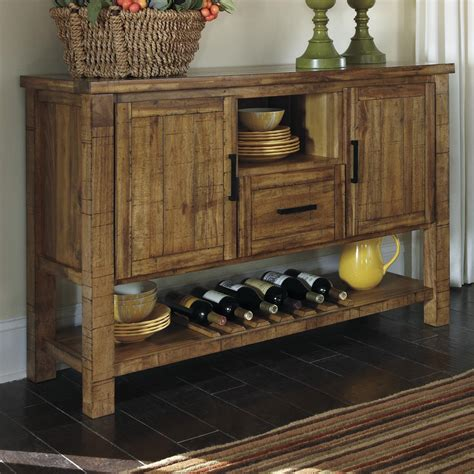 Ashley Furniture Bakers Rack by Signature Design By Ashley Krinden Rustic Dining Room