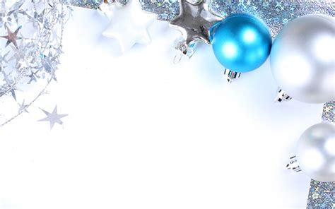 Blue And Silver Balls Merry Christmas Wallpaper
