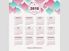 2018 abstract calendar Vector Free Download