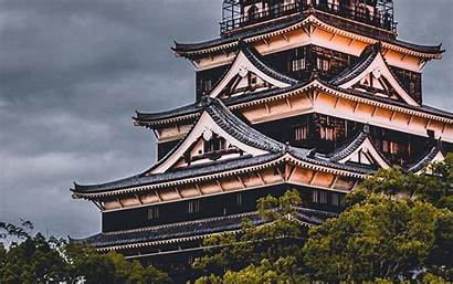 Hiroshima Castle Japan Architecture Background Wallpapers Widescreen