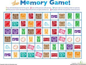 printable memory game worksheet educationcom