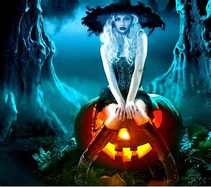 Halloween Witch Pumpkin Fantasy Pretty Happy Wallpapers