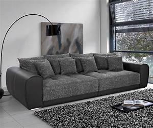 überwurf Für Sofa : big sofa valeska 310x135 schwarz strukturstoff 12 kissen m bel sofas big sofas ~ Frokenaadalensverden.com Haus und Dekorationen