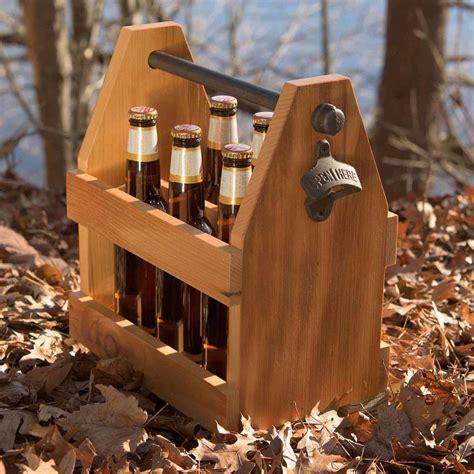 diy reclaimed barn wood beer caddy   wooden beer