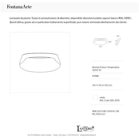 Vendita Applique On Line by Illuminazione Fontana Arte Applique Led Bonnet Vendita