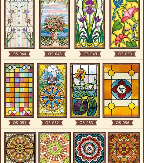 Decorative Window Stained Glass - new styles custom electrostatic frosted stained glass