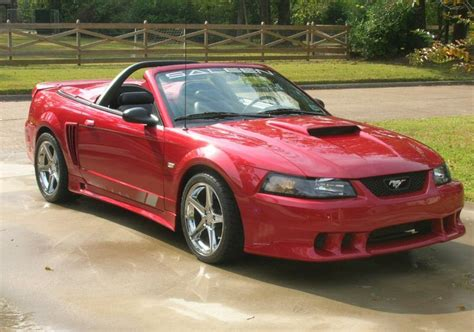 laser red  saleen  ford mustang convertible