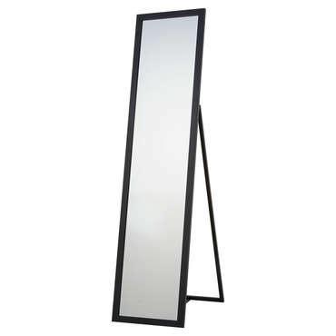 miroir de chambre sur pied miroir psyché 30x140 cm manon coloris noir vente de