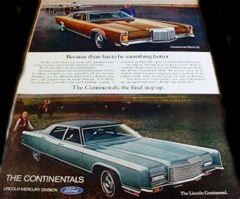 Lincoln Continental Mark III , Ads