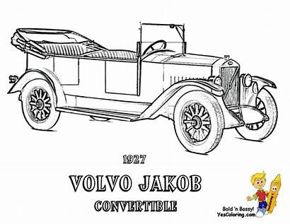 Coloring Pages Muscle Volvo Printables Rod Convertible