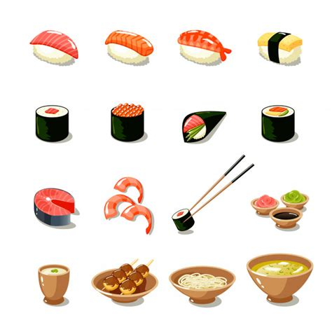 cuisine japonaise sushi japanese food vectors photos and psd files free