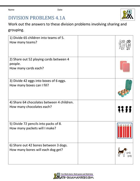 division worksheets grade 4