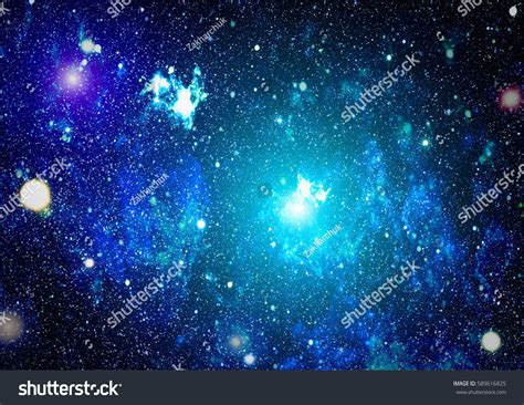 Colorful Starry Night Sky Outer Space Stock Illustration