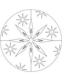 christmas mandala  stars coloring page  printable coloring pages