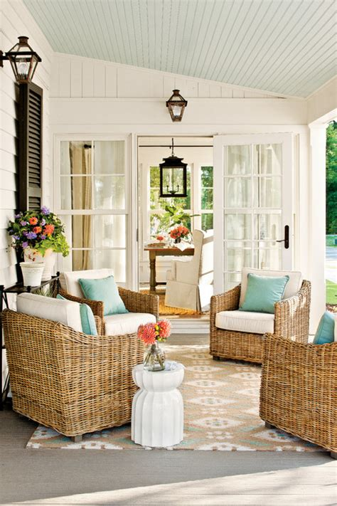 This Could Be Our Sunroom (sloped Blue Beadboard Ceiling