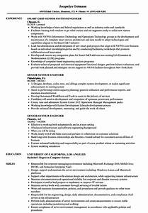 Power System Engineer Resume Senior System Engineer Resume Samples Velvet Jobs