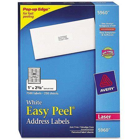avery 5960 easy peel white address labels for laser
