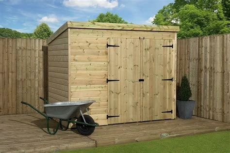 shed 7x7 garden shed 7x7 pent shed pressure treated tongue and