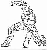 Coloring Pages Printable Ironman Iron sketch template