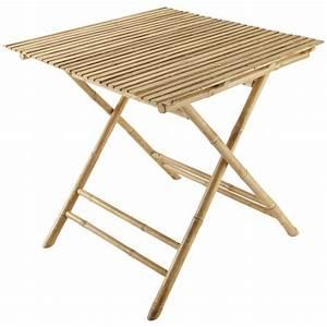 Maison Du Monde Table Jardin : table de jardin carr e pliante bambou robinson maisons ~ Teatrodelosmanantiales.com Idées de Décoration