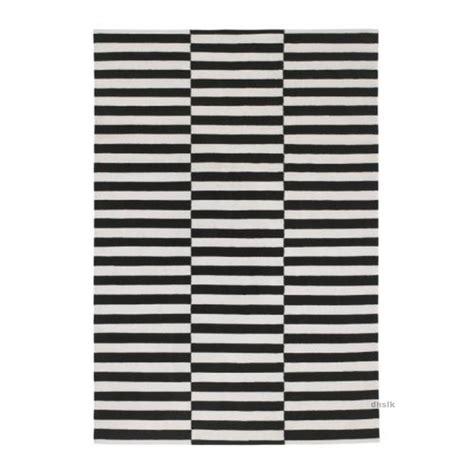 Ikea Teppich by Ikea Stockholm Black White Broken Stripe Area Rug Mat Wool