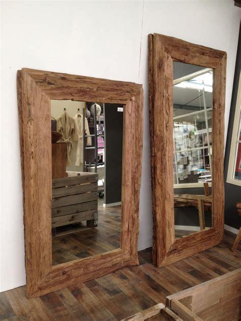 spiegel hout spiegels   wood framed mirror wood