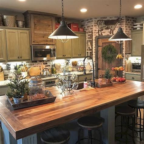 decoration ideas for kitchen 24 farmhouse rustic small kitchen design and decor ideas