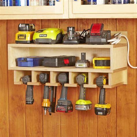 cordless tool station woodworking plan  wood magazine