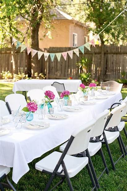 Party Backyard Birthday Parties Pink Decorations Decoration