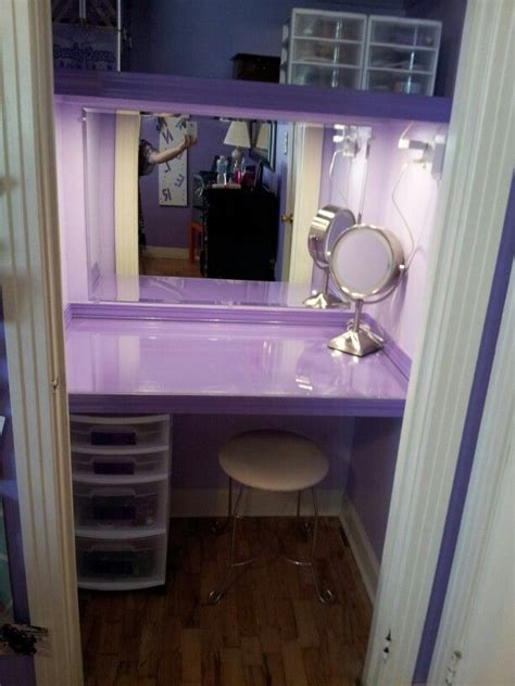 Closet Vanity Ideas closet turned into a vanity for my i made it in