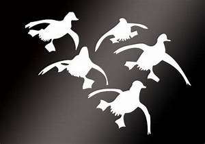 Flying Ducks Landing Hunting Decals sticker Waterfowl ...