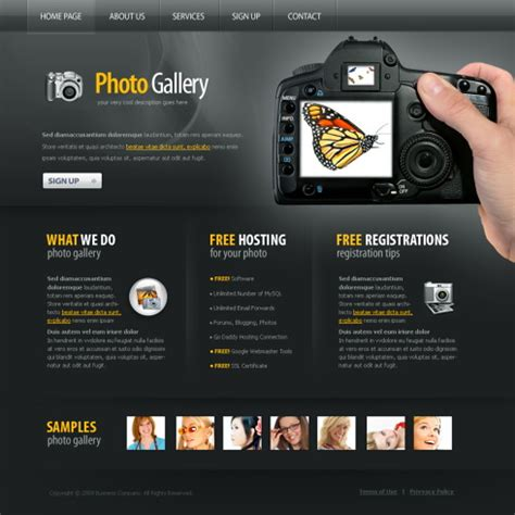 Photography Website Templates Photo Gallery Xhtml Template 5969 Photography