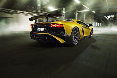 Lamborghini Aventador Sv Powerkit Rear, Hd Cars, 4k