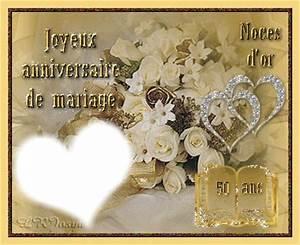 Cadeau Noce D Or : montage photo noce d 39 or 50 ans pixiz ~ Teatrodelosmanantiales.com Idées de Décoration